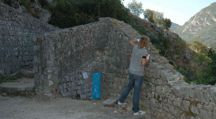 Manutenzione del muro di difesa