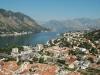 Vista sul golfo di Cattaro dalla postazione sistemata