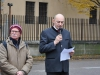 Giorgio Roncolato legge saluto dell'Associazione Bepin Segato
